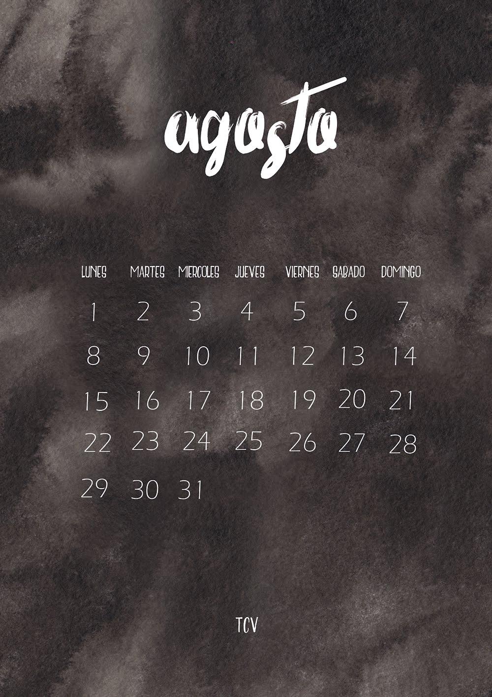 Calendario agosto + fondos de pantalla