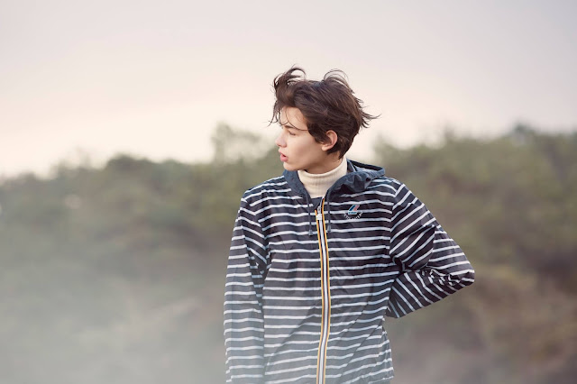 Petit Bateau x K-Way breton stripe raincoats
