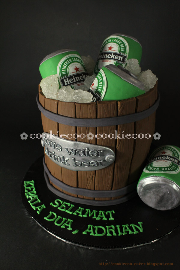Cookiecoo Heineken Beer Cake For Adrian