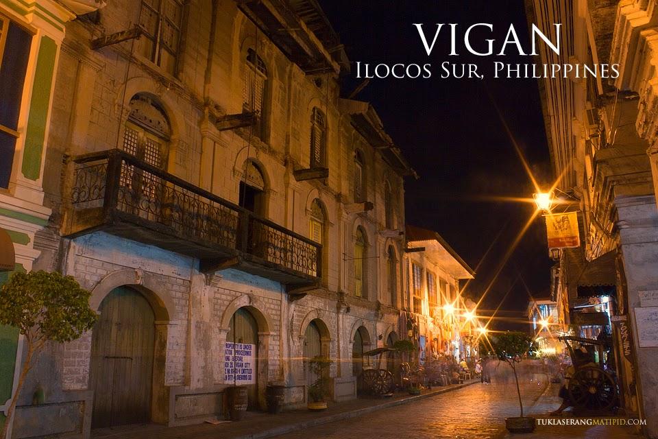 Night shot in Calle Crisologo Vigan Ilocos sur
