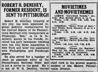 Rober Herr Denehey transferred to Pittsburgh