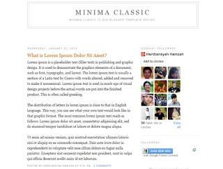 Minima Classic Blogger Template