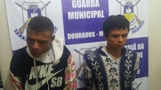 Após furto em loja, meliantes são detidos pela Guarda Municipal de Dourados (MS)
