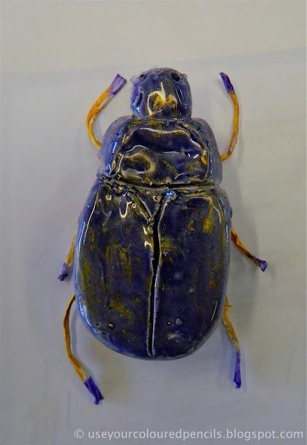 Drawingandcolouretheprint Scarab Beetle Sculptures