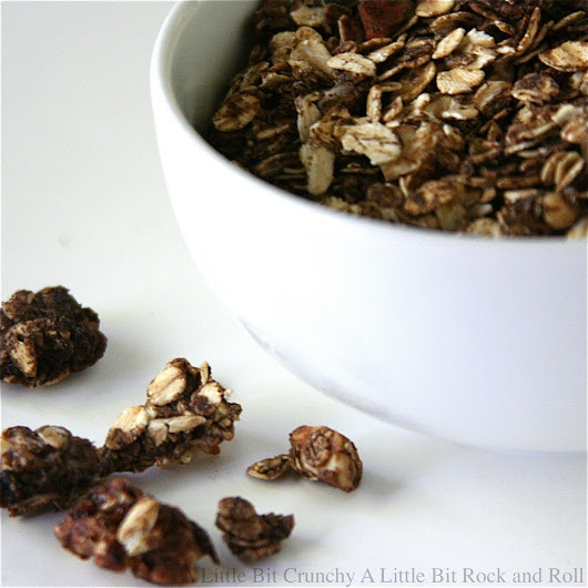A Little Bit Crunchy A Little Bit Rock and Roll: Dark Chocolate Granola with Peanut Butter