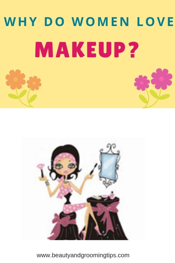 illustration of women applying makeup