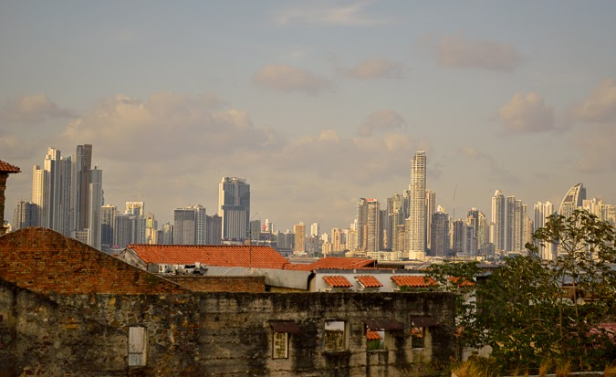 Skyline of Casco Viejo and Panama City