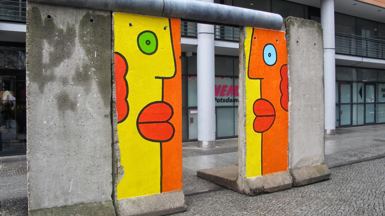 Murens spar syns fortfarande i tyska skolan