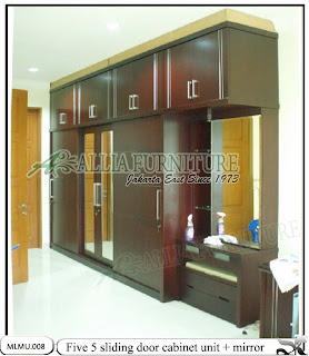 Lemari minimalis model cabinet unit five