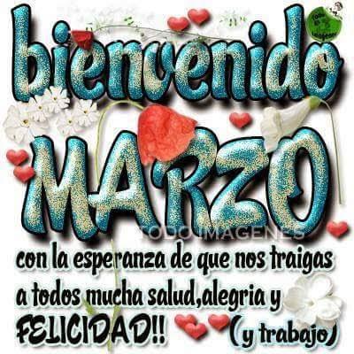 Imagen Bienvenido Marzo Para Facebook