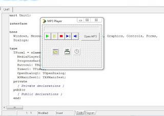 Cara Membuat Pemutar MP3 Sederhana Dengan Delphi 7