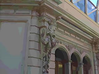 Detalhe da Construção das Galerias Pacífico, Buenos Aires