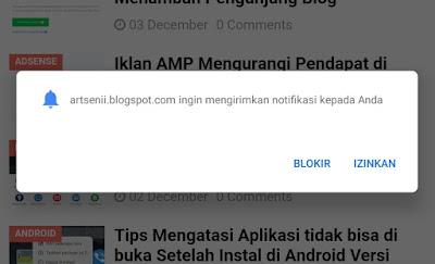 Cara Memasang Notifikasi Subcribe di Blog Seperti YouTube, Jalan Tikus Dan Web Besar Lainnya