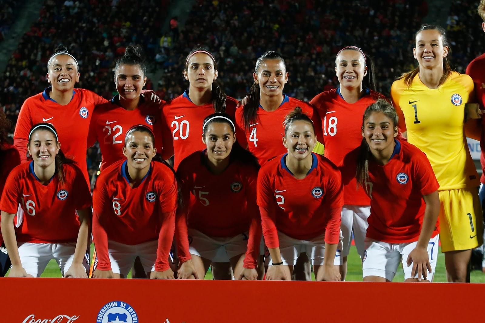 Formación de selección femenina de Chile ante Colombia, amistoso disputado el 20 de mayo de 2019