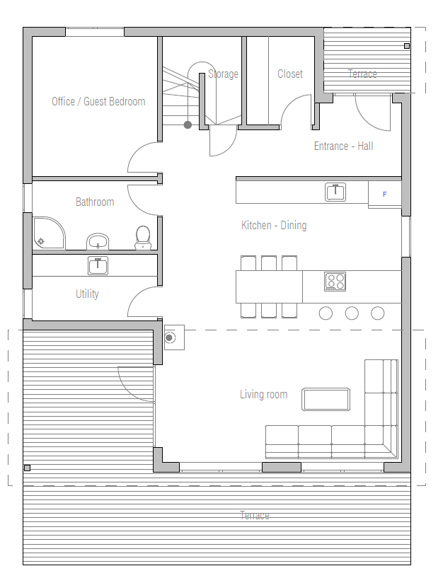 Economical Home Plan floor plan 1
