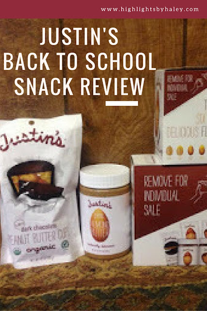 Justin's Back To School Snack Review