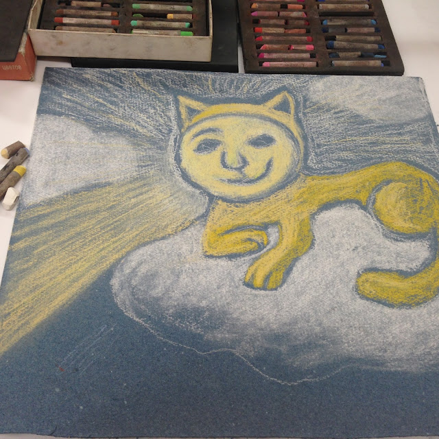 #AideLL #sunshinecat #suncat #clouds #catonclouds #illustartion #art