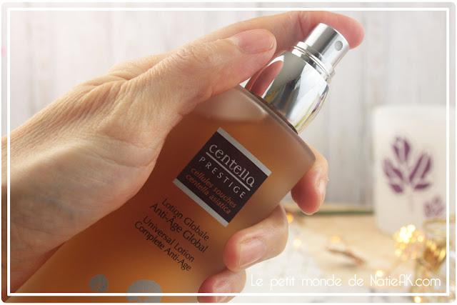 Lotion rafraîchissante et fixe le maquillage  Globale Anti-ride fermeté  Centella Prestige