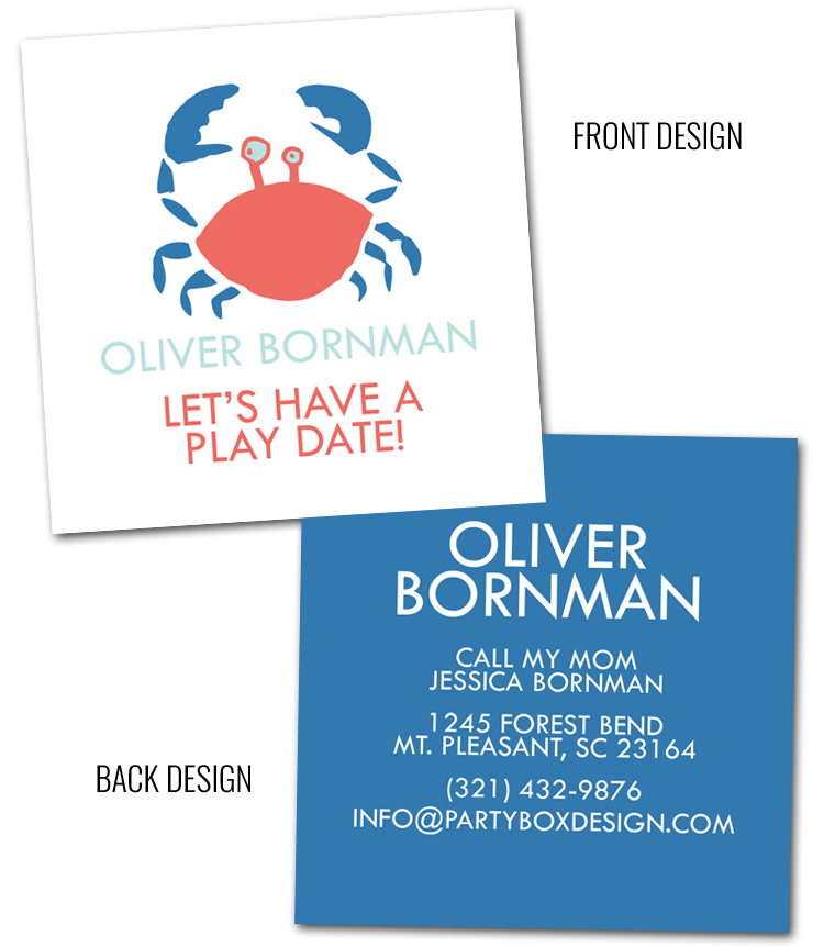 http://www.partyboxdesign.com/category_164/Childrens-Calling-Cards.htm