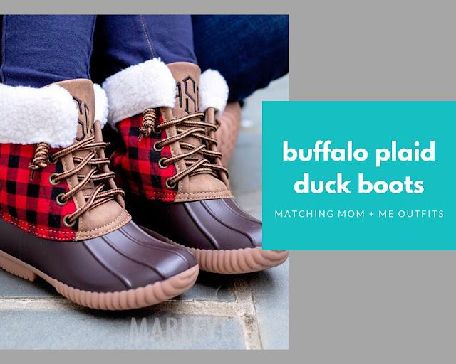 monogram duck boots for boys