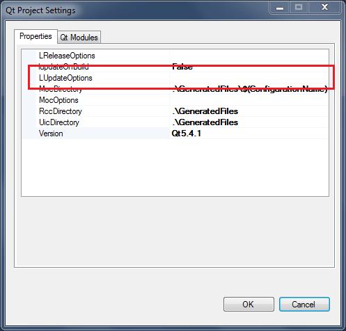 Qt on Visual Studio and QML translation files