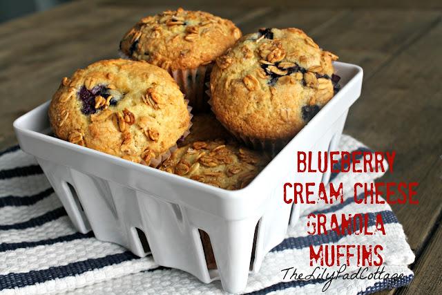 blueberry cream cheese granola muffins