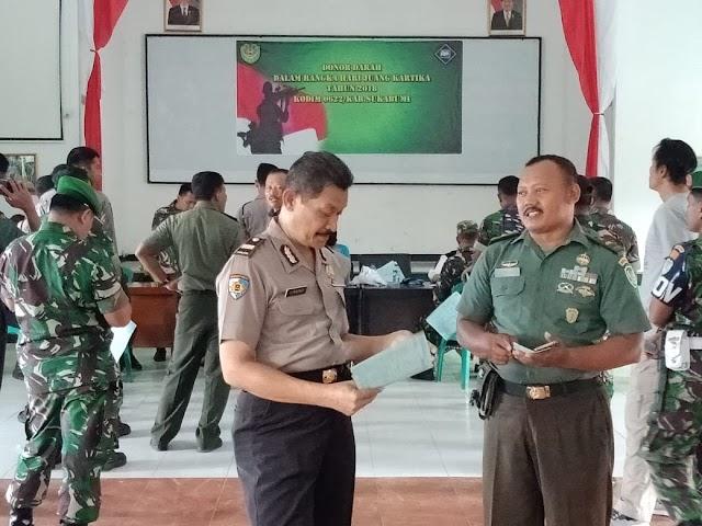 Peringati Hari Juang kartika 2018, Ratusan TNI Sumbangkan Darah