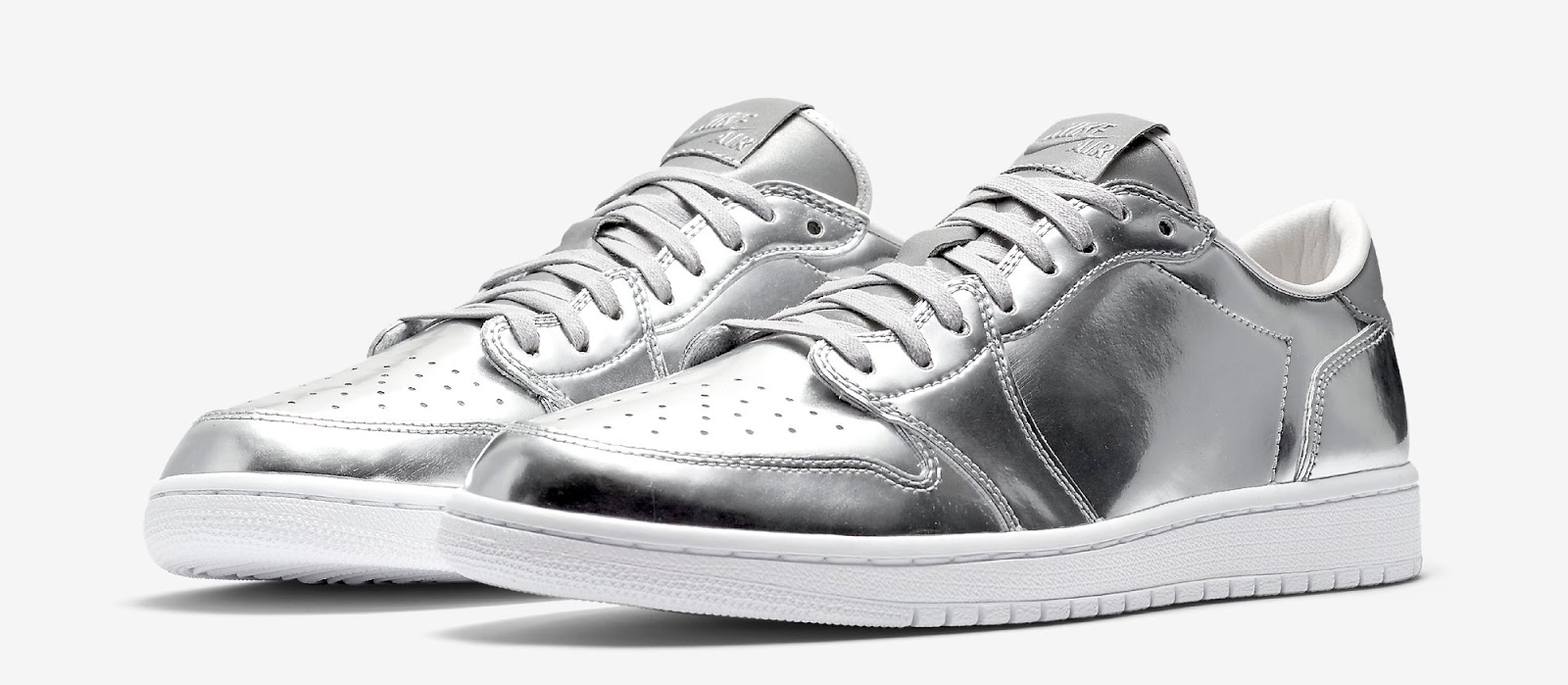 14e0eeef2f00 Air Jordan 1 Retro Low OG Pinnacle Metallic Silver White Release Reminder