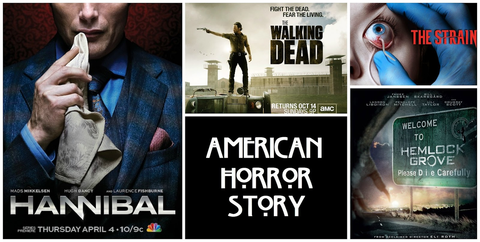 top mejores series de terror hannibal serie the walking dead the strain american horror story hemlock grove opinion argumento miedo thriller