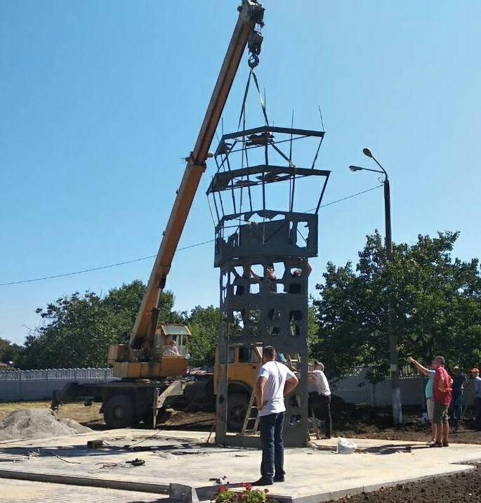 В Одеській області встановлюють меморіальний комплекс у вигляді вежі Донецького аеропорту