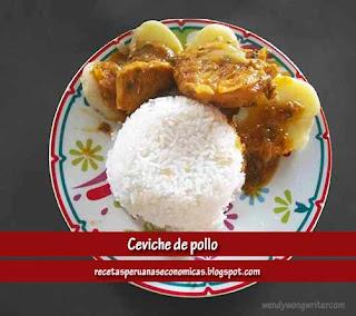 receta ceviche de pollo peruano