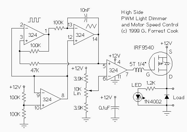 Wiring Schematic Diagram: 12V Low Side And High Side PWM
