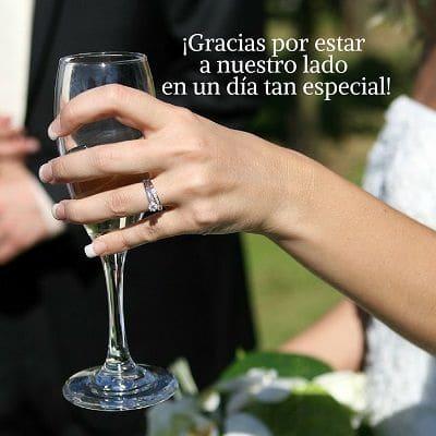 frases bonitas de agradecimiento para boda