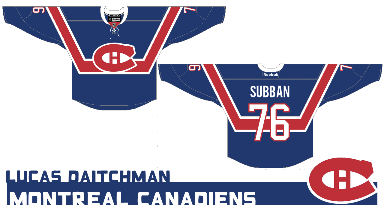 ab927da54 Lucas drew some inspiration from these old beauties the Habs brought back a  few seasons ago. I personally love those jerseys and they re pretty high on  my ...