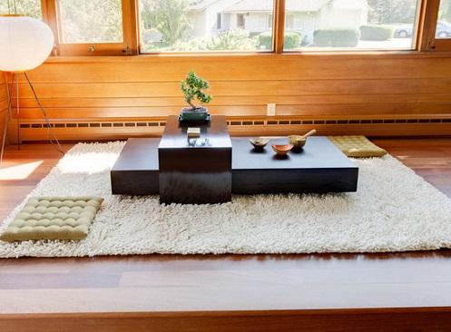 Chọn bàn trà phong cách Nhật cho phòng khách hiện đại