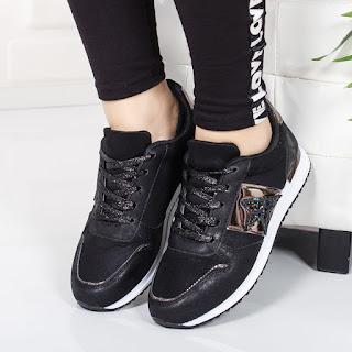 Pantofi sport Vidol negri