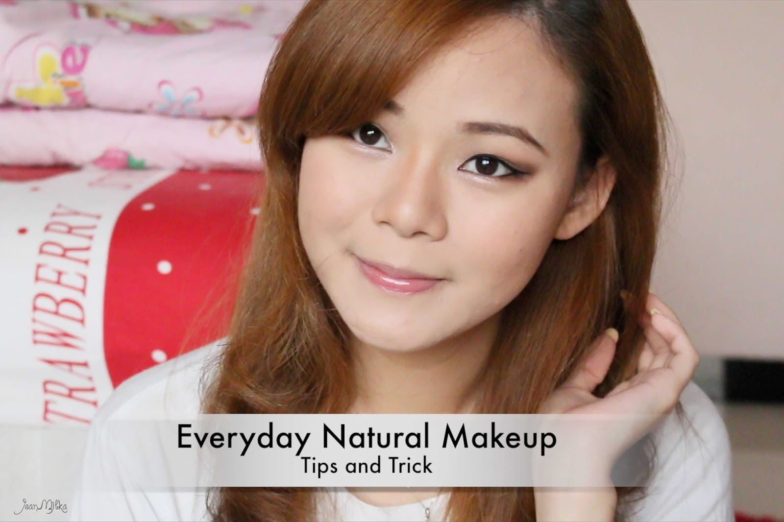 tutorial, video, youtube, jeanmilka, everyday, makeup, asian, small eyes