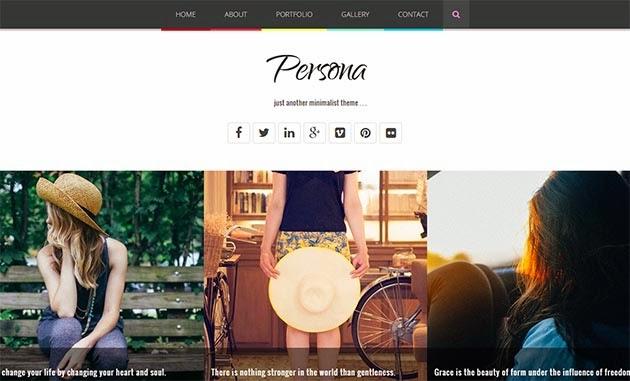 Persona - Minimalist & Responsive Blogger Template
