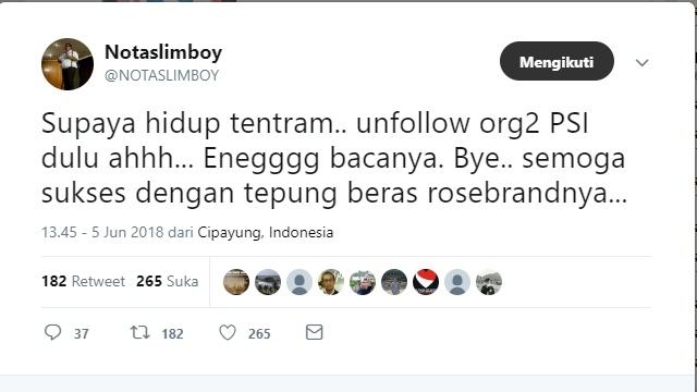 'Eneg' Baca Komen Kader PSI di Sosmed, Sammy Komik Unfollow Akun-akun Elit PSI!