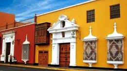Foto a las casonas coloniales de Trujillo
