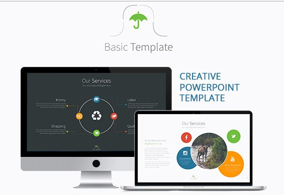 Basic – PowerPoint Creative and Colorful Presentation Template