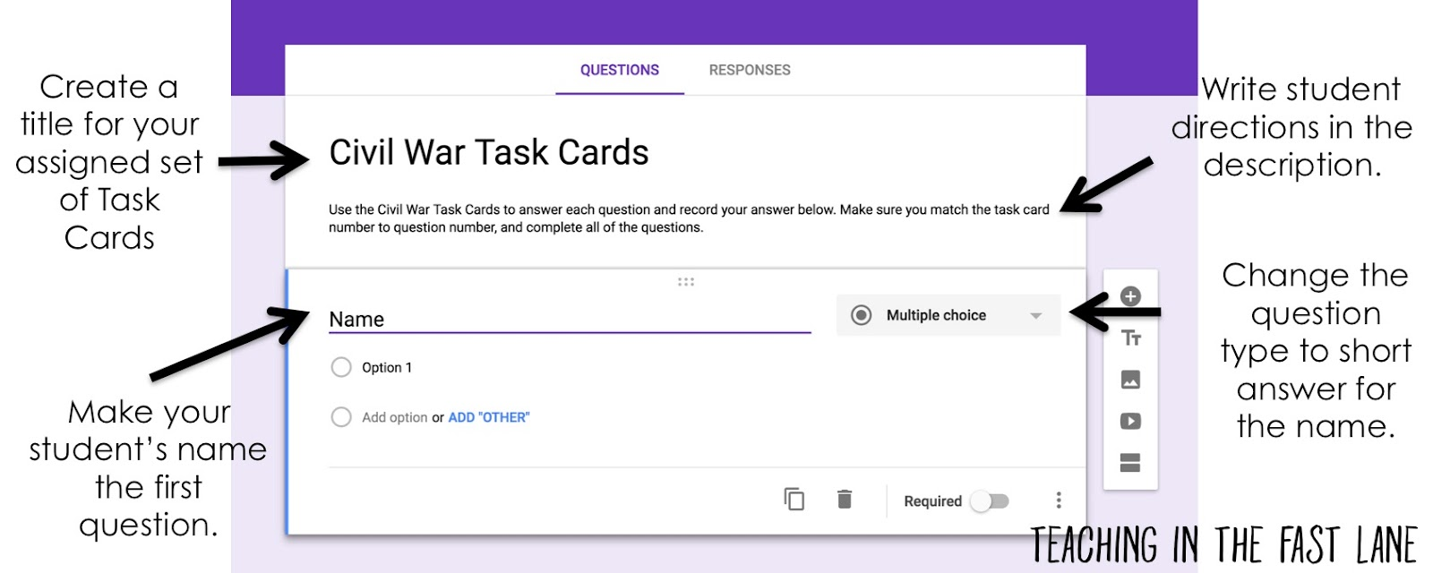 Using Google Forms with Task Cards | <!--Can't find substitution ...