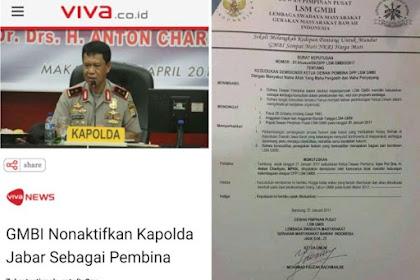 "Kapolda Jabar ""DIPECAT"" GMBI, Netizen Tertawa: Jendral Dipecat Preman"
