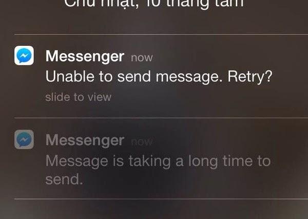 Facebook messenger kết nối chậm