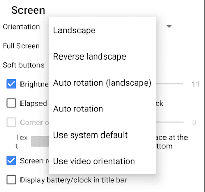 How to Rotate a Video Screen Orientation while Playing in MX