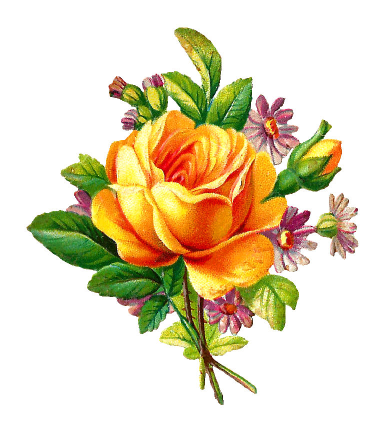 Amazing Cliparts Today 1586798535 Yellow Rose Bouquet Clipart Uhd