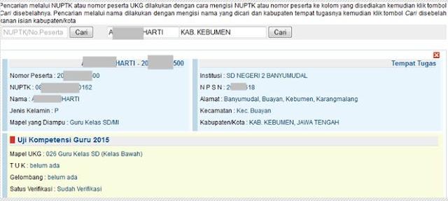 Detail Data Peserta UKG 2015