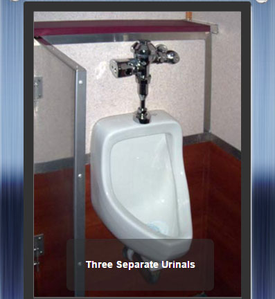 The Newport 1600  - 3 Urinals for Men