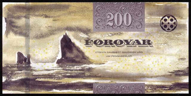 Faroese Banknotes 200 Krone banknote 2011 Tindhólmur