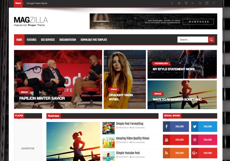 Mag zilla blogger template high quality free blogger templates mag zilla blogger template cheaphphosting Images